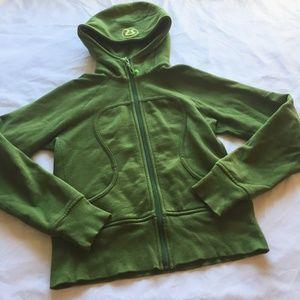 Lululemon Green Scuba Hoodie Jacket 4 6